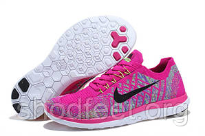 Женские кроссовки Nike Free 4.0 Flyknit Rose