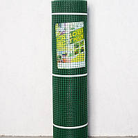 """Сетка пластиковая (""""забор, ромб"""") 30мм х 30мм 1,5м х 25м темно-зеленая"""