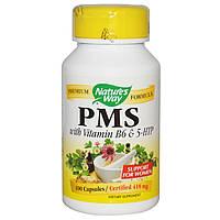 Комплекс для облегчения симптомов ПМС, с витамином B6 и 5-HTP, 418 мг,  PMS, With Vitamin B6 & 5-HTP, 100 капс