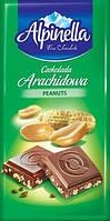 Молочный шоколад Alpinella  Arachidowa , 90 гр