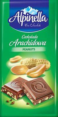 Молочный шоколад Alpinella  Arachidowa , 90 гр, фото 2