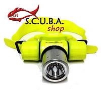 Налобный фонарь подводный Bailong HL-005 (с аккумулятором)