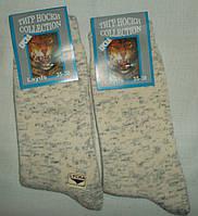 Носки женские Тигр лайкра  Цвет лен  Размер 35-38