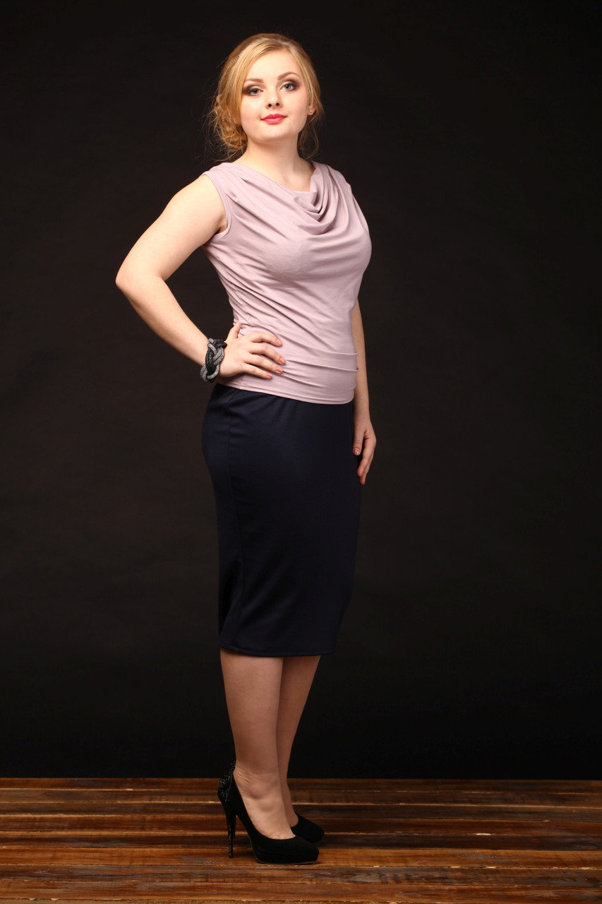 Купить юбку из трикотажа большого размера
