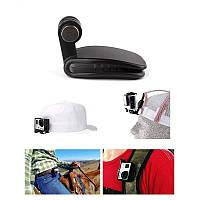 Крепление-прищепка GoPro на кепку/рюкзак