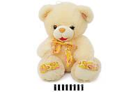 Ведмедик  з бантом  розовий S38-3414X55 SK 6штящ