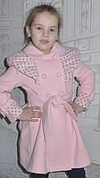 Детская одежда .   Пальто кашемировое  Оборочка-горох(пудра), фото 1