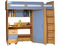 Кровать чердак (стол,шкаф,лестница,тумба,полки)