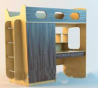 Кровать чердак ( лестница, стол,полки)