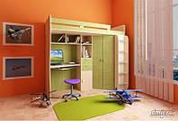 Кровать чердак (стол,лестница,шкаф)