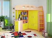 Кровать чердак ( шкаф,лестница, стол, полки,тумба)