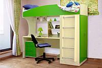 Кровать чердак (стол,лестница,шкаф,тумба, полки)