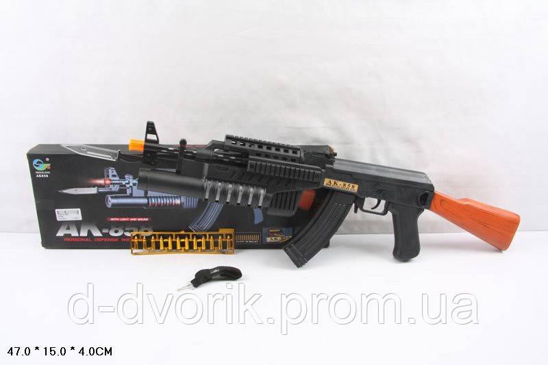 Автомат  AK858 72шт2 штык-нож, в коробке 47154см - ДЕТСКИЙ  ДВОРИК в Днепропетровской области