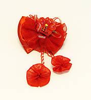 Резинка для волос с висюльками цветочком и игрушкой детская-40 шт.- Ø 3,0 см.