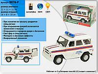 Машина батар 9076-F 36шт2Служба спасения,звук,свет, в коробке 211111см