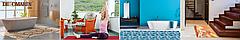 Коврик для ванной Морские звезды коричневый ширина 65 см, фото 3