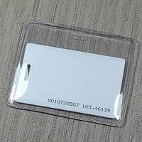 Горизонтальный виниловый карман (бейдж) для бесконтактных карт ISO и Clamshell