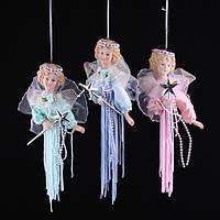 """Сувенир """"Ангел""""  в  платье из нитей разных цветов ,17 см, в п/п"""