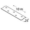 Перфорированная лента в рулоне TM 1/10 Domax  (25 мм х 10 м х 1,5 мм) Domax Польша строительный крепеж