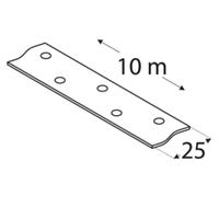 Перфорированная лента в рулоне TM 1/10 Domax  (25 мм х 10 м х 1,5 мм) Domax Польша строительный крепеж, фото 1