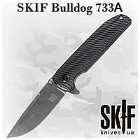 Складной нож  SKIF Bulldog 733A, черный, G-10/SF, флиппер, клипса