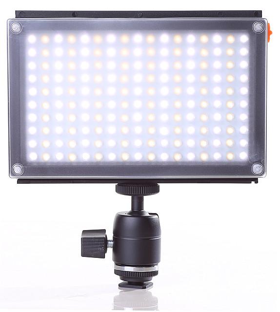 Накамерный видео свет Lishuai (Оригинал) LED-170AS (Би-светодиодная) + шарнирный держатель (LED-170AS)