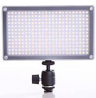 Накамерный видео свет Lishuai LED-312AS (Би-светодиодная) + шарнирный держатель(LED-312AS)