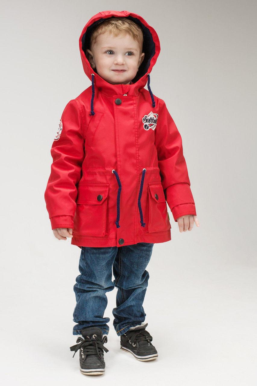 Куртка парка весенняя для мальчика (рост 116-134 см)
