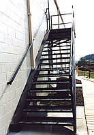 Сходи пожежні зовнішні стаціонарні