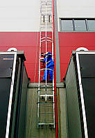 Пожарная лестница на здании