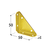 Наугольник NS50 Domax (50 мм х 50 мм х 16 мм х 1,4 мм) Domax Польша строительный крепеж