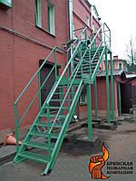 Наружные эвакуационные металлические лестницы