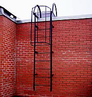 Выдвижная трехколенная пожарная лестница