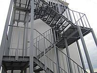Эвакуационная лестница чертеж
