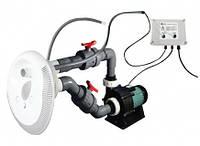 Противоток для бассейна Emaux AFS55KIT с цветной LED подсветкой, 90м3\ч, 380V, встраиваемый под лайнер/бетон