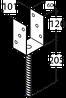 Основание столба PS100U (101 мм х 325 мм х 120 мм х 6,0 мм) Domax Польша строительный крепеж