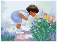Картина по номерам Роспись на холсте Будущий флорист 1029 40 х 50 см
