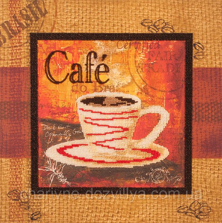 """Набор для вышивания бисером (на подрамнике) """"Чашечка кофе-1"""""""