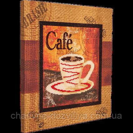 """Набор для вышивания бисером (на подрамнике) """"Чашечка кофе-1"""", фото 2"""