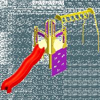 Детская площадка с горкой «Рукоход»