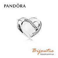 Pandora шарм ЛЕНТА ЛЮБВИ 791816CZ серебро 925 Пандора оригинал, фото 1
