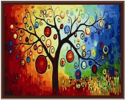 Картина по номерам Роспись на холсте Денежное дерево  КНО230 40*50 см