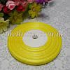 Лента из органзы, 0,6 см,  желтая