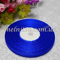 Лента из органзы, 0,6 см,  синяя