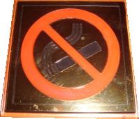 """Табличка """"Курение запрещено"""" настенная пластиковая с акриловым основанием"""