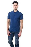 Мужская футболка поло с воротником.