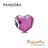 Pandora шарм В МОЁМ СЕРДЦЕ 791814EN62 серебро 925 Пандора оригинал, фото 1