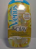 Станок женский для бритья Gillette Venus Olay + 1 картридж (Жиллет Венус Олей)