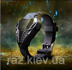Светодиодные спортивные часы для мужчин Железный Человек силикон, Часы Кобра змея черные силиконовый ремешок
