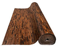 Обои бамбуковые,черепаховые темные 17мм,ширина 2.5м